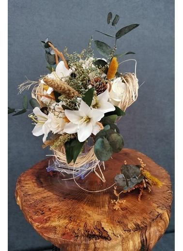 Kuru Çiçek Deposu Exclusive Serisi Okaliptuslu Gelin Çiçeği 2'Li Set Renkli